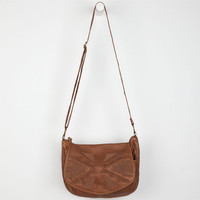T-Shirt & Jeans Tribal Patch Crossbody Bag Cognac One Size For Women 24212240901