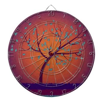 Tree of Life Dartboard With Darts
