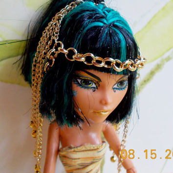 Doll Jewelry,  Doll Headdress, Doll Headband, Handmade for Monster High Ever After High Bratz, Egyptian Jewelry, Cleopatra Jewelry
