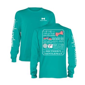 Palmetto Moon | Simply Southern If He Long Sleeve T-shirt | Palmetto Moon