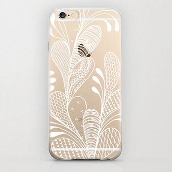 Paisley Flower iPhone 6 Cover and Apple iPhone 6 Cell Phone Cases Tribal Flora Clear Stylish Case with Gorgeous Handmade Designs Custom