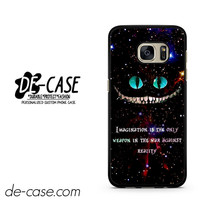 Alice In Wonderland Cheshire Cat Quote DEAL-519 Samsung Phonecase Cover For Samsung Galaxy S7 / S7 Edge