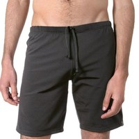 Pillar Men's Yoga Short w/inner liner (Black, Medium)