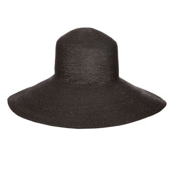 Black Wide Brim Top Hat