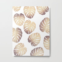Pastel monstera Metal Print by Printapix