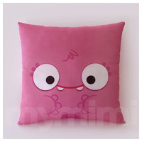 "12 x 12"" Pink Monster Pillow, Children's Decorative Pillow, Kids Pillow, Girls Playroom Decor, Children's Room Decor, Office Humor"