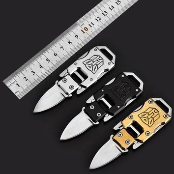 Transformer Knife Keychain Stainless Steel Self-defense