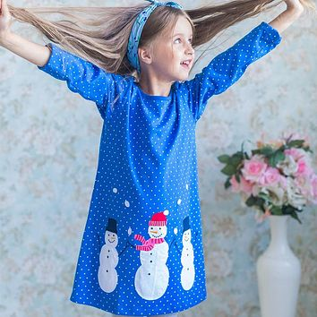 Baby Dress Cotton A-line Princess Dress Christmas Costume for Kids Clothes Autumn Winter Toddler Girls Dresses Children Clothing
