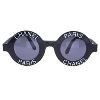 Chanel 'Chanel Paris' Logo Frame Sunglasses