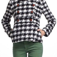 NWT ANTHROPOLOGIE by THIRD PIECE ORTLEY HOUNDSTOOTH COAT JACKET 6