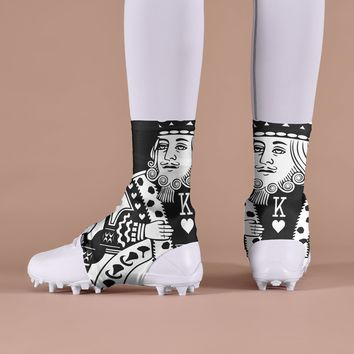 King Of Hearts Black Spats / Cleat Covers