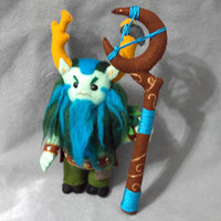 Furion,  DOTA2,   DOTA 2, a computer game, , monster, plush soft toys, soft sculpture, blue, favorite hero, predator,