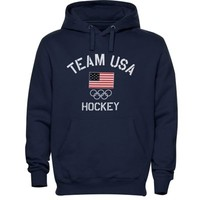 USA Hockey Fired Up Hoodie - Navy Blue