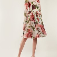 Peony and rose-print chiffon mini dress | Dolce & Gabbana | MATCHESFASHION.COM US
