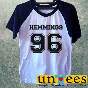 Luke Hemmings 96 5SOS Short Raglan Sleeves T-shirt