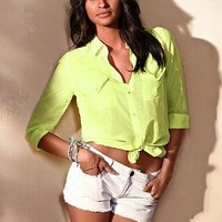 Cotton Silk Button-down Shirt - Victoria's Secret