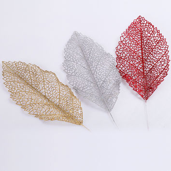 Merry Christmas Artificial Leaf Decor 30cm Christmas Tree Hanging Decoration Xmas Leaves Ornament [8323722561]