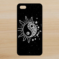 Yin Yang Sun Stars V2 Space Moon Art Phone Case iPhone 4 / 4s / 5 / 5s / 5c /6 / 6s /6+ Apple Samsung Galaxy S3 / S4 / S5 / S6
