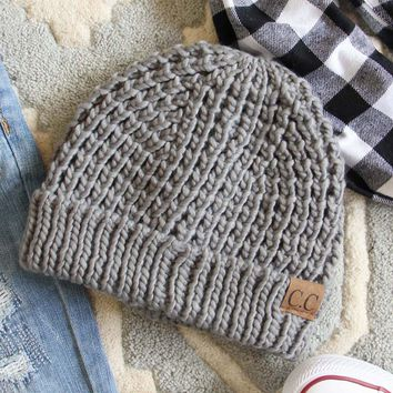 The Lake Easton Beanie in Gray
