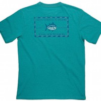 Original Skipjack Slub Tee Shirt in River Blue by Southern Tide