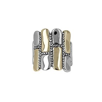 Two-Tone Pebble Statement Ring