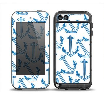 The Blue Anchor Stitched Pattern Skin for the iPod Touch 5th Generation frē LifeProof Case