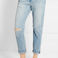 Current/Elliott - The Fling distressed low-rise boyfriend jeans