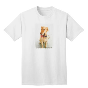 Golden Retriever Watercolor Adult T-Shirt