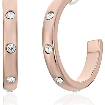 "Kate Spade New York ""Infinity and Beyond"" Small Hoop Earrings"