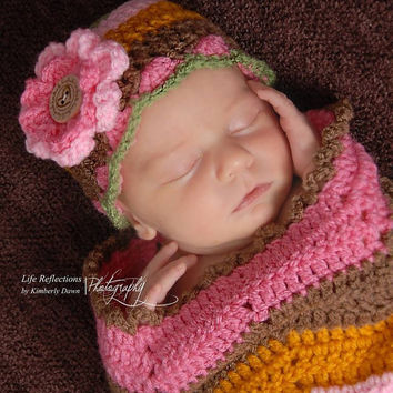 Pink Baby Blanket, Pink Baby Hat, Newborn, Hat, Girl, Beanie, Baby Hat, Layering Blanket, Mini Blanket, Wrap, Photo Prop, Photography Prop