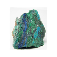 Sky Blue Chrysocolla with streamers of Green Malachite and dark Blue Azurite on Quartzite, Mineral Specimen or Cutting Lapidary Rough
