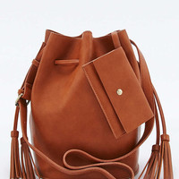 Clean Tassel Tan Duffle Bag - Urban Outfitters