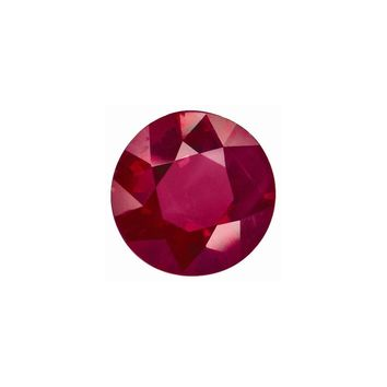 Loose Ruby  1.25mm Round Diamond Gemstone Cut   I2 Clarity And I/j Color