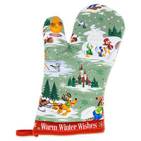 Santa Mickey Mouse and Friends Happy Holidays Oven Mitt | Disney Store