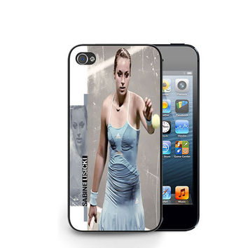 New Hot Sabine Lisicki Tennis Pro Player iPhone 4 4S / iPhone 5 Hard Case Cover