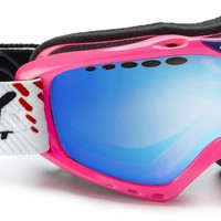 KLONYX PINK FLUO SNOW GOGGLE WITH MULTILASER BLUE LENS