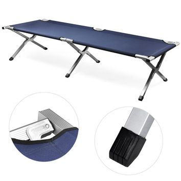 600D  PVC Oxford Outdoor Portable Military Folding Camping Cot XL