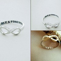 Custom Message Infinity Ring by donnaodesigns by donnaOdesigns