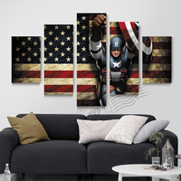 Captain America Canvas Art Oil Painting Wall Art Modern Prints For Living Room H