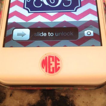 iPhone Monogram Home Button Decal