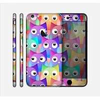 The Multicolored Shy Owls Pattern Skin for the Apple iPhone 6 Plus
