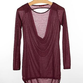 BKE Red Open Back Top