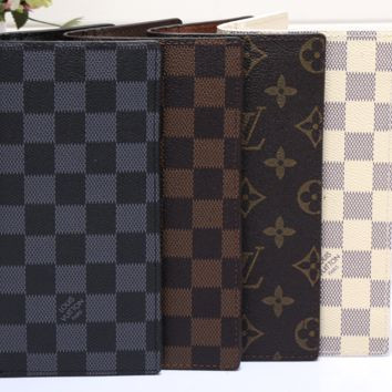 LV fashion leather spell color long wallet[380411936804]