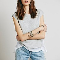 Free People Womens Gauze Back Tank