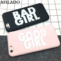Fashion Cute BAD GOOD GIRL Soft TPU Ultra Thin Back Cover for iPhone 5 5s se Case Silicone Funny Slim Phone Shell Capa Coque
