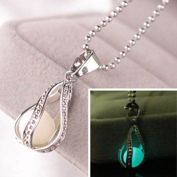 Accessory Noctilucent Hollow Out Water Droplets Lightning Pendant [11192813076]