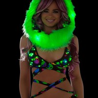 Alien Light Up Wrap Top | LED Clothing from RaveReady
