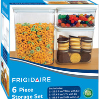 frigidaire 6 piece food storage set with lids Case of 4