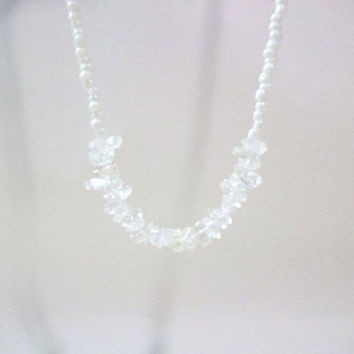 Crystal necklace , crystal quarts stone necklace