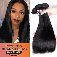 8A Grade Brazilian Remy Virgin Hair 3 Bundles 18 20 22 inch Silky Straight Remy Human Hair Extensions Weave Natural Color